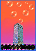 Wendy J. St. Christopher Digital Art Posters - Mildrenas Chimney - Bubbles Poster by Wendy J St Christopher