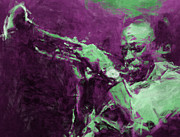 Trumpet Digital Art Prints - Miles Davis Abstract Print by David G Paul