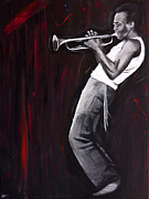 Miles Davis Painting Originals - Miles Davis by Harry Moses