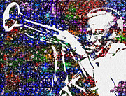 Figures Digital Art Prints - Miles Davis Print by Jack Zulli