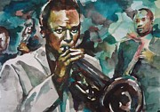 Miles Davis Painting Originals - Miles Davis  by Matthew OHanlon