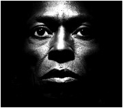Black American Art Prints - Miles Davis Portrait Print by Sanely Great