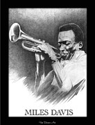 Trumpet Player Drawings - Miles Davis Poster by Gordon Van Dusen