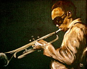 Miles Davis Painting Originals - Miles by Pete Maier