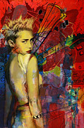 Miley Cyrus Print by Corporate Art Task Force