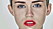 Wrecking Ball Posters - Miley Cyrus Portrait Poster by Florian Rodarte