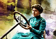 Steering Painting Prints - Military Lady Print by Robert Smith