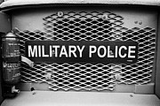 Vintage Police Vehicle Framed Prints - Military Police Sign On Vintage British Army Military Vehicles On Display County Down Northern Irela Framed Print by Joe Fox