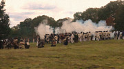 Colonial America Paintings - Militia Launch a Volley by Colonial America