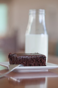 Brownie Prints - Milk and Brownies Print by Kay Pickens