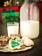 Christmas Greeting Photo Prints - Milk and Cookies Print by Edward Fielding