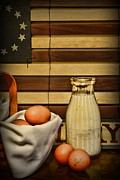 Country Kitchen Posters - Milk and Eggs Poster by Paul Ward