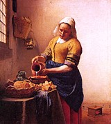 Old Age Paintings - Milk and Honey by Johannes Vermeer