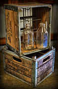 Milk Bottles And Crates Print by Lee Dos Santos
