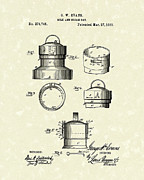 Milk Drawings - Milk Can 1883 Patent Art by Prior Art Design