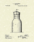 Whiteman Framed Prints - Milk Jar 1890 Patent Art Framed Print by Prior Art Design
