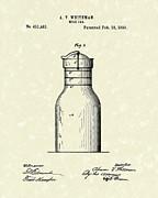 Milk Jar 1890 Patent Art Print by Prior Art Design