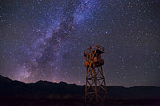 Shack Prints - Milky Way at Manzanar Print by Cat Connor