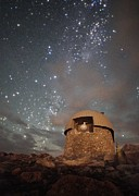 Mountain Photos - Milky Way Clouds Over The Mount Evans Observatory by Mike Berenson
