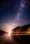 Squamish Framed Prints - Milky Way Express Framed Print by Alexis Birkill