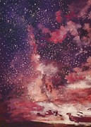 Galaxy Pastels - Milky Way Galaxy by Barbara Smeaton