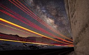 Loveland Prints - Milky Way Light Trails On Loveland Pass Print by Mike Berenson