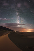 Reserved Prints - Milky Way Nightscape From Great Sand Dunes National Park Print by Mike Berenson