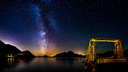 Water Reflections Photos - Milky Way over Anvil Island by Alexis Birkill