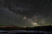 Milky Way Prints - Milky Way over Mt Lassen Print by Keith Marsh
