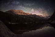Mills Photos - Milky Way Rising Over Longs Peak by Mike Berenson