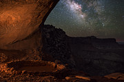 Milky Way Skies From False Kiva Print by Mike Berenson