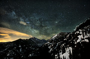 All Rights Reserved Framed Prints - Milky Way Skies Over Glacier Gorge Framed Print by Mike Berenson