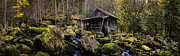 Austria Photos - Mill at a Brook Panorama by Sabine Jacobs