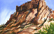 Moab Painting Prints - Mill Creek Butte Print by Jeff Mathison