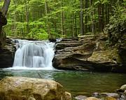 Mill Creek Falls #1 Print by Joel E Blyler