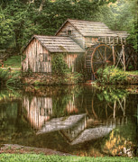 Grist Mill Posters - Mill on The Blue Ridge  Poster by Darren Fisher
