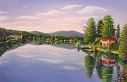 Side Pastels Prints - Mill Pond Print by Bruce MacBride