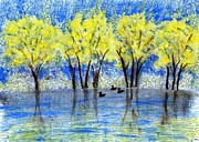Ducks Tapestries - Textiles - Mill Pond by Jean Baardsen