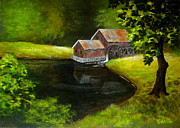 Disney Artist Paintings - Mill  Pond  by Shasta Eone