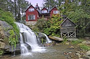 Water Mill Images Prints - Mill Shoals Falls   Near Rosman NC Print by Willie Harper