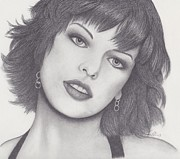 Evil Drawings Originals - Milla Jovovich by Nancy Esposito