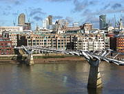City Photography Digital Art - Millenium Bridge - London by Natalie Kinnear