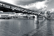 Saint Christopher Photo Prints - Millennium Foot Bridge - London Print by Mark E Tisdale