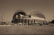 Ballpark Prints - Miller Park - Milwaukee Brewers Print by Frank Romeo