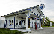 Southern Illinois Photos - Millers Standard Oil Gas Station Dwight Illinois by Deborah Smolinske