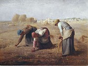 Gleaners Framed Prints - Millet, Jean François 1814-1875. The Framed Print by Everett
