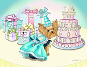 Puppy Mixed Media - Millie LaRue Birthday Party by Catia Cho