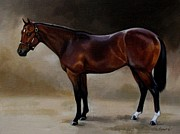 Thoroughbred Paintings - Million Dollar Baby by Janet  Crawford
