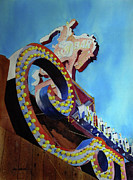 Signage Paintings - Million Dollar Cowboy by Kris Parins