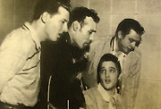And Jerry Lee Lewis Framed Prints - Million Dollar Quartet Framed Print by Greg Thiemeyer